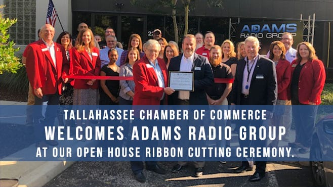 Tallahassee Chamber of Commerce Welcomes Adams Radio Group