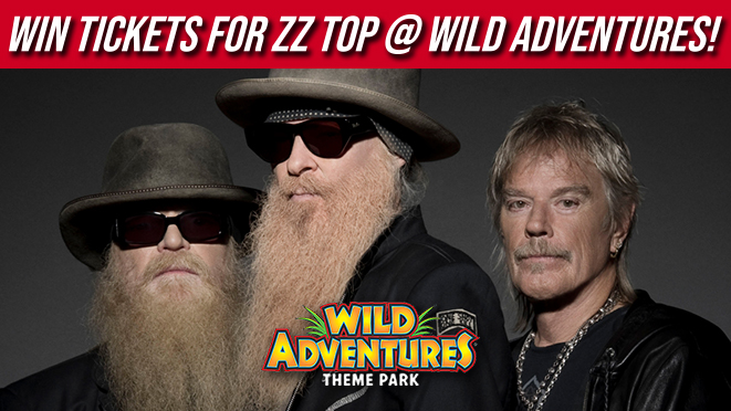 ZZ Top at Wild Adventures on Saturday, July 31st!